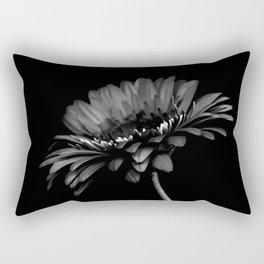 Daisy gerbera. Black and white Rectangular Pillow