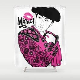 Cartoon Boyfriend© : Miguel Shower Curtain