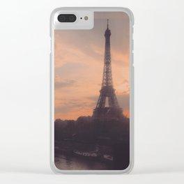 Parisian sunset Clear iPhone Case