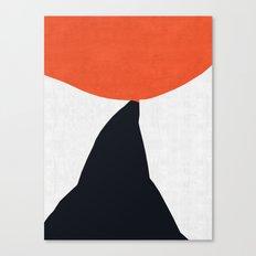 Blue and red modern art VIII Canvas Print