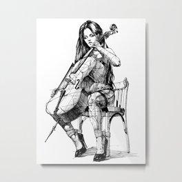 Cellist. Виолончелистка. Metal Print