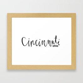 Cincinnati, Ohio Framed Art Print