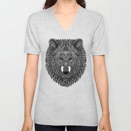 Gray Wolf Unisex V-Neck