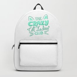 The Crazy Cat Ladies Club Backpack