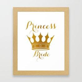 Princess Bride - Gold Faux Foil Crown Framed Art Print