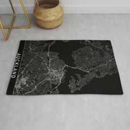 Auckland Black Map Rug