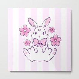 Sakura Bunny 02 Metal Print