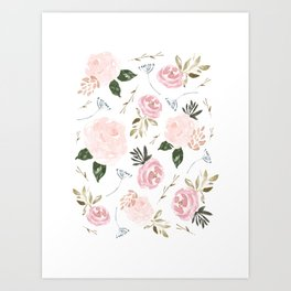 Floral Blossom - Muted Pink Art Print
