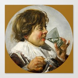 "Frans Hals ""Boy with a glass and a tin can"" Canvas Print"