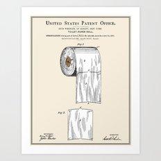 Toilet Paper Roll Patent Art Print