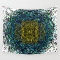 geode Wall Tapestries featuring Geode Abstract 01 by Charma Rose