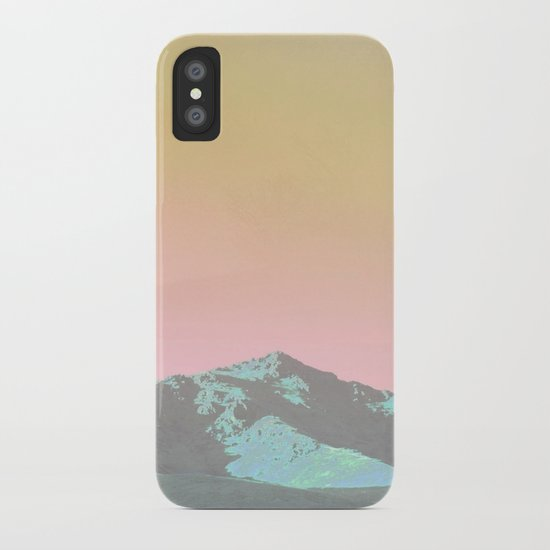 teal hills raibow skies iPhone Case