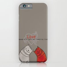 LOVE is a single soul in two bodies iPhone 6s Slim Case