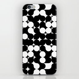 Black & White Graphic Circles iPhone Skin