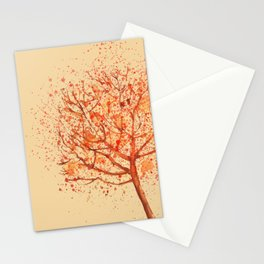 Red Spring Tree Stationery Cards