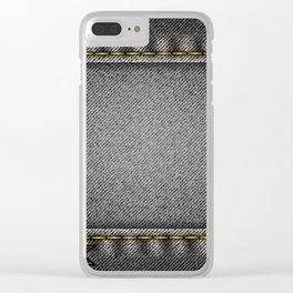 Denim background Clear iPhone Case