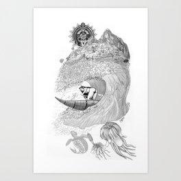 Machu Qun Tiksi Wiraqucha Art Print