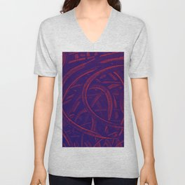 Junction - Purple and Red Unisex V-Neck