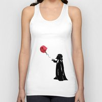 banksy Tank Tops featuring Little Vader - Inspired by Banksy by kamonkey
