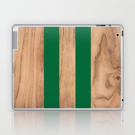 Wood Grain Stripes - Green #319 Laptop & iPad Skin