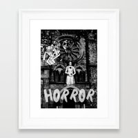 horror Framed Art Prints featuring Horror by alexflasher