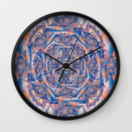 Carnival Fun House Mirror Fractured Wall Clock