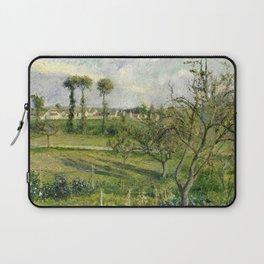 """Camille Pissarro """"Soleil Couchant au Valhermeil, Auvers-sur-Oise"""" Laptop Sleeve"""
