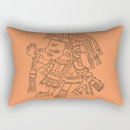 Aztec Warrior Rectangular Pillow