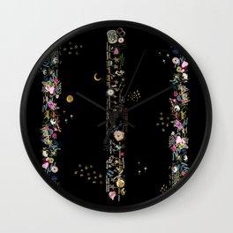 black mystic nighte Wall Clock