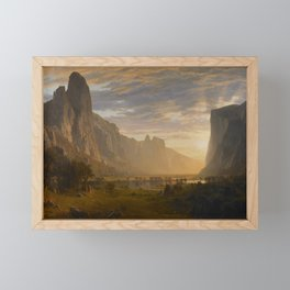 Looking Down Yosemite Valley, California Albert Bierstadt Framed Mini Art Print