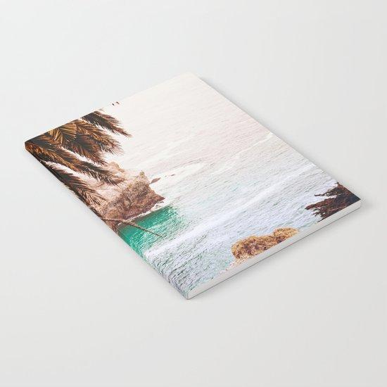 vintage ocean #palm tree Notebook