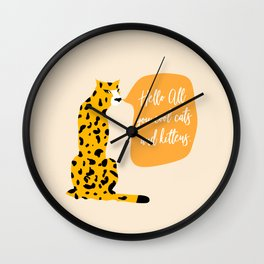 Cool cats and kittens Wall Clock