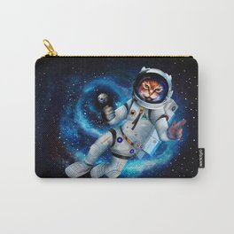 Space cat iPhone 4 5 6 7, ipod, ipad, pillow case and tshirt Carry-All Pouch