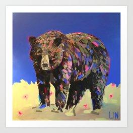 Approaching Prairie Mountain Art Print