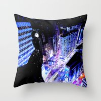 vertigo Throw Pillows featuring Vertigo by Danielle Tanimura