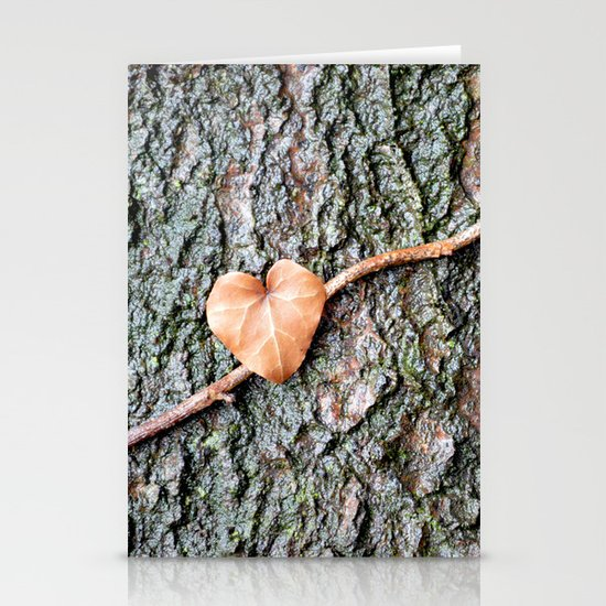 Heart and tree Stationery Cards