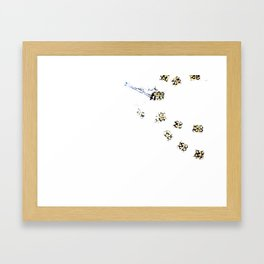 Faux Pearls Partial Framed Art Print