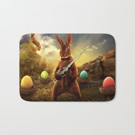 rabbit fighter Bath Mat