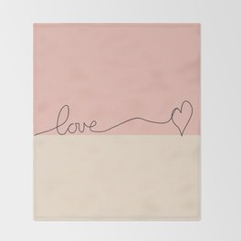 Love en Rose Throw Blanket