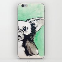 gizmo iPhone & iPod Skins featuring Gizmo Holiday by LaceyKobyArt