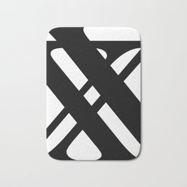 Hidden Letters. Baskerville X Bath Mat