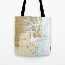 Map of Fort Lauderdale FL (1991) Tote Bag