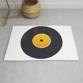 Vinyl Record Zodiac Sign Leo Rug