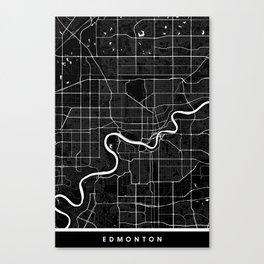 Edmonton - Minimalist City Map Canvas Print
