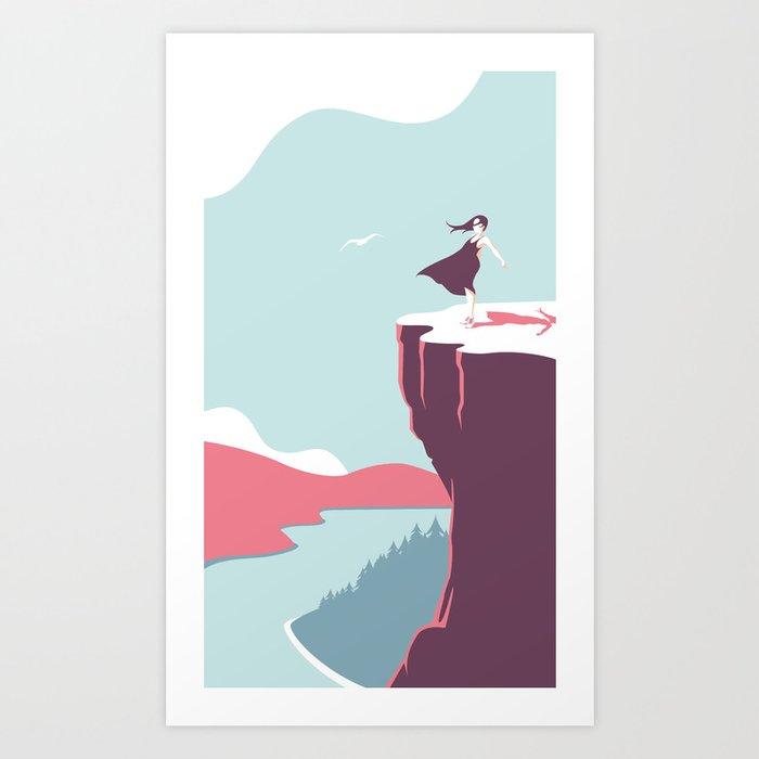 The girl by the lake (II) Art Print