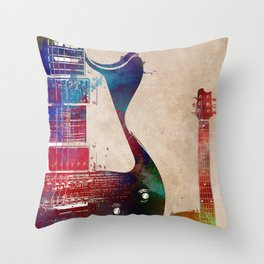 Guitar art 8 #guitar #music Throw Pillow