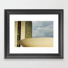 Brasilia, Brazil Architecture Framed Art Print