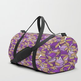 Book Collection in Purple Duffle Bag