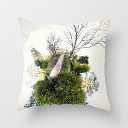 (N)evergreen #1 (Tiny Planet) Throw Pillow