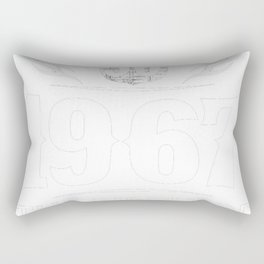Life Begins At 50 1967 The Birth Of Legends Rectangular Pillow